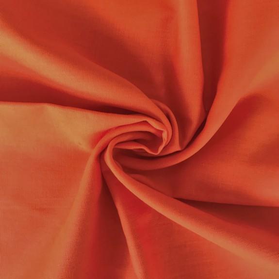 Uni-Baumwollstoff orange